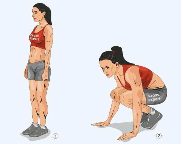 Первая фаза упражнения берпи