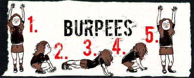 Техника берпи (burpee)