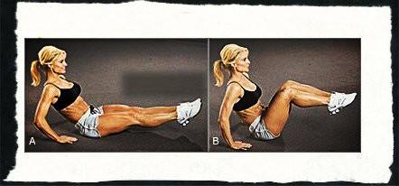 Упражнение уголок на пресс на полу