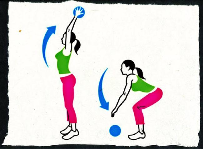 Техника выполнения броска мяча об пол