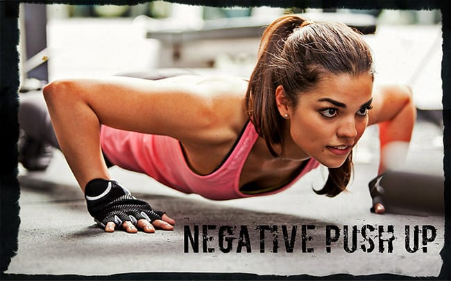Негативные отжимания упражнение