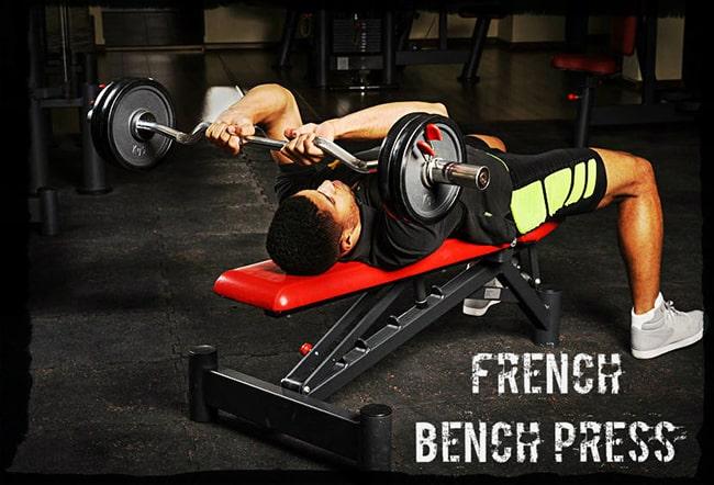 Французский жим штанги лежа упражнение