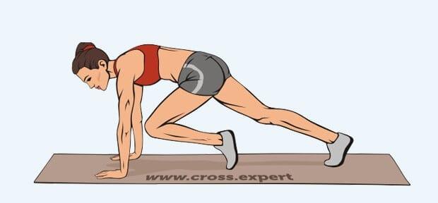 Упражнение бег в упоре лежа