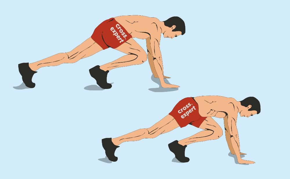бег в упоре лежа