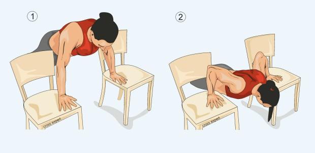 Отжимания между стульев