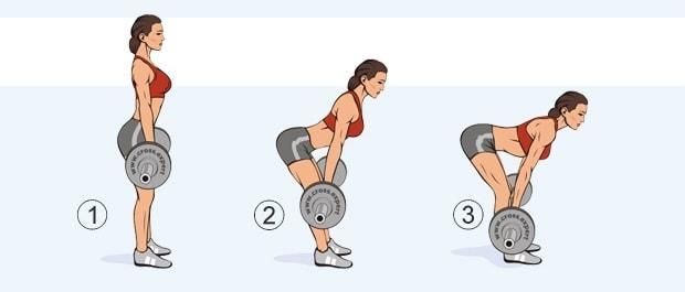 Упражнение мертвая (румынская) тяга