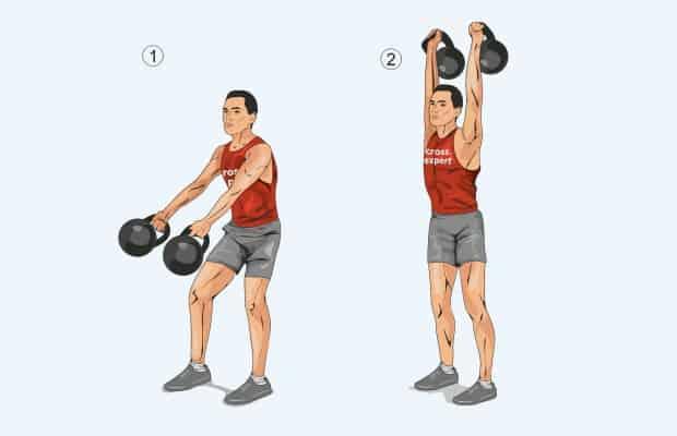Упражнения рывок двух гирь одновременно