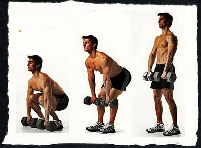 Становая тяга с гантелями: вариант упражнения