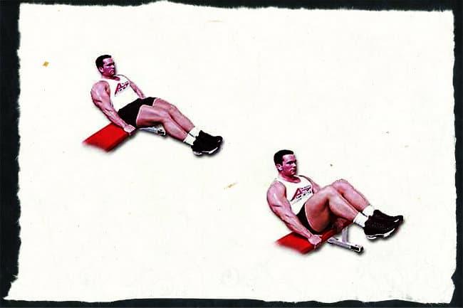 Подтягивание ног сидя к животу упражнение для пресса