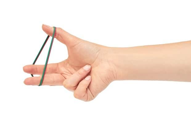 Разведения пальцев с сопротивлением резинок
