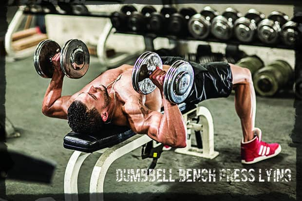 Bench pressing one hand on a horizontal bench