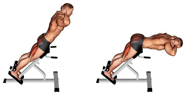 Гиперэкстензия для развития ягодичных мышц