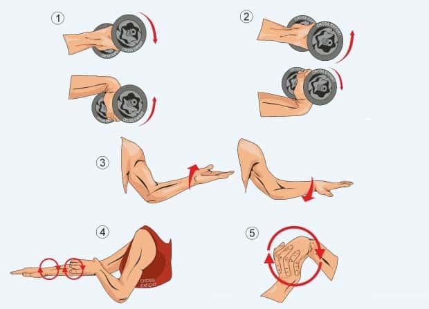 Упражнения для разминки запястий
