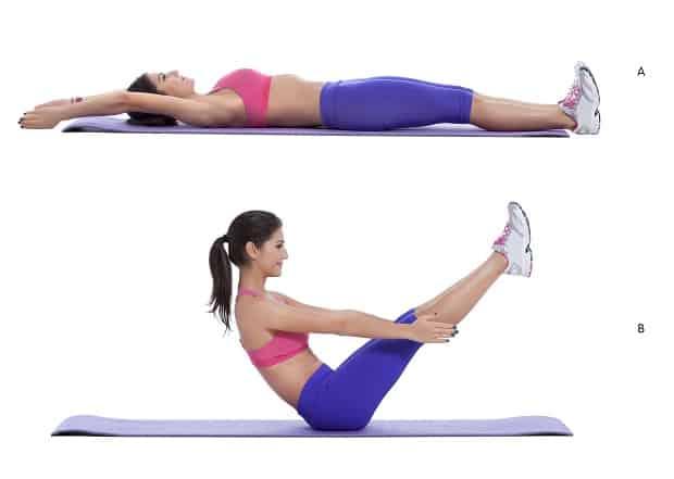 Упражнение v-ситап