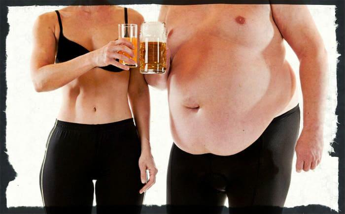 Влияние алкоголя на лишиний вес
