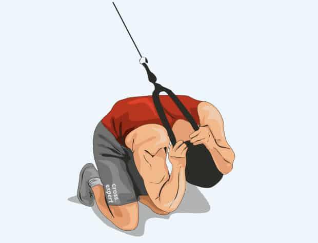 Боковые скручивания на кроссовере или блочном тренажере