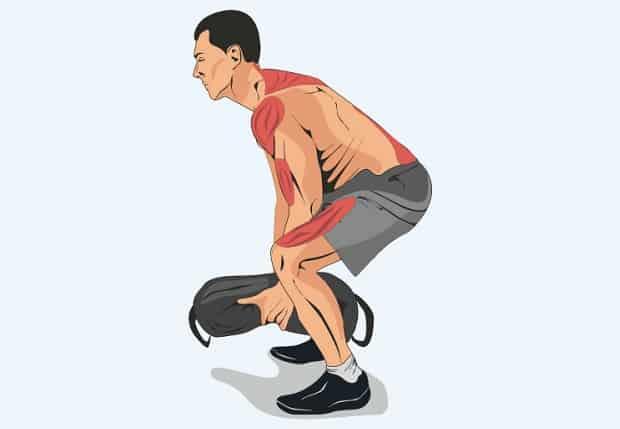Мышцы, работающие в подъеме мешка на плечо