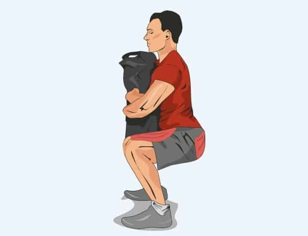 Мышцы, работающие при приседаниях с мешком