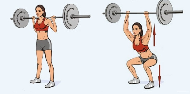 Первая фаза упражнения силовой балансовый рывок штанги