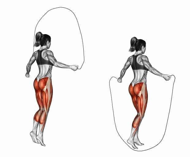 Мышцы при тройных прыжках на скакалке