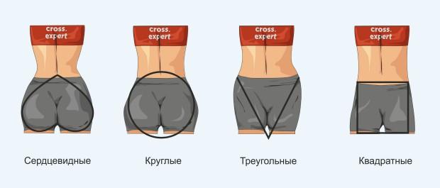 Типы ягодичных мышц
