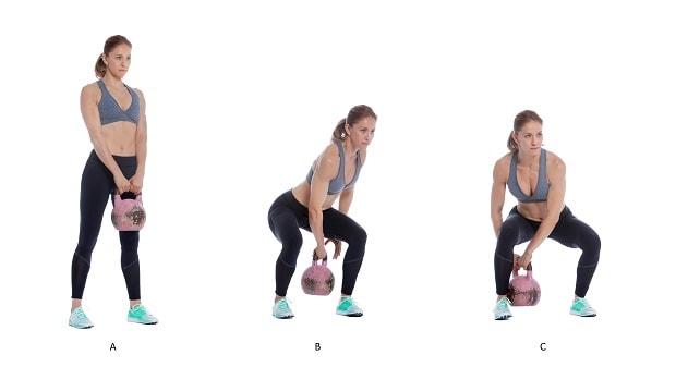 Упражнение восьмерка с гирей