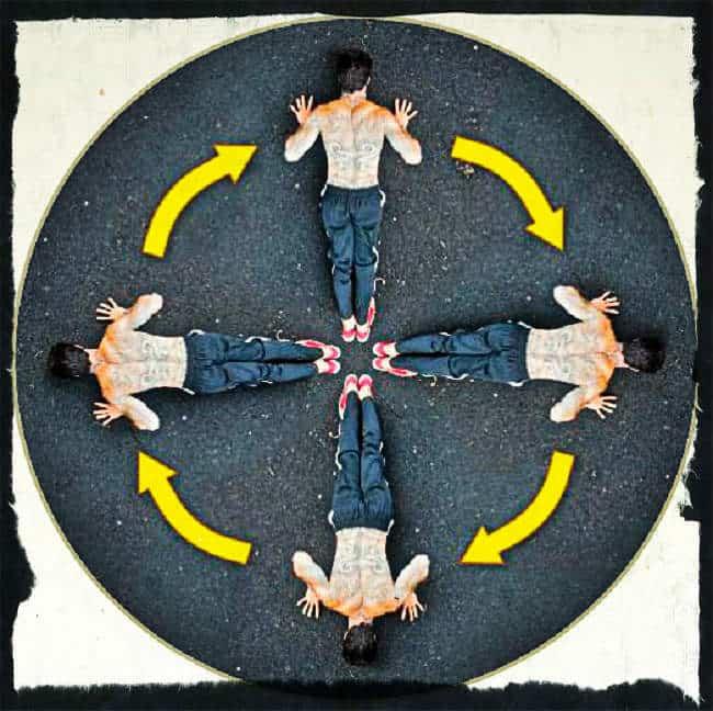 Отжимания по кругу