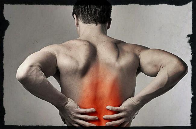 оступился боль в спине