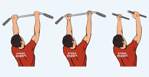3 вида хвата при подтягивании
