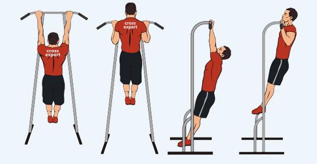 подтягивание - техника выполнения упражнения