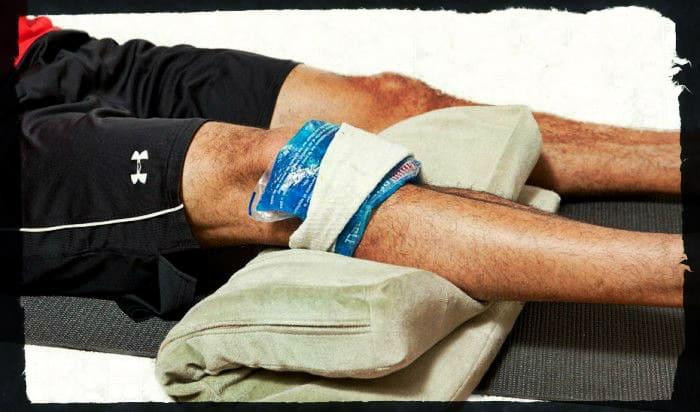 Первая помощь при травме связок колена