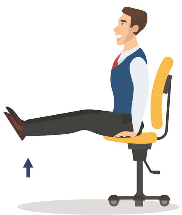 Подъемы ног на стуле