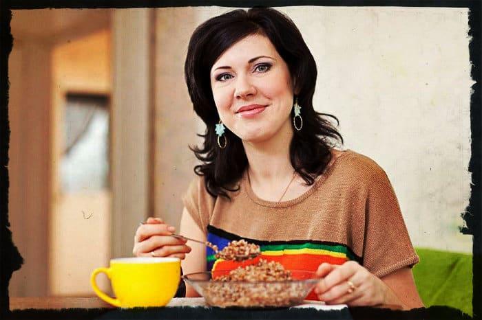 завтрак с гречневой кашей