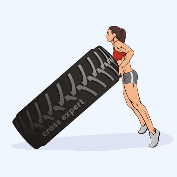 упражнение с покрышкой-2