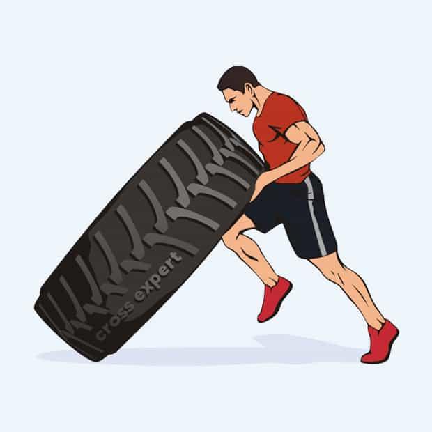 упражнение с покрышкой - 3