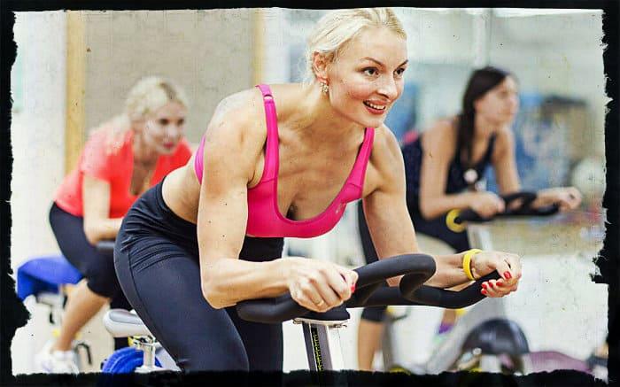 Аэробная тренировка на велотренажере