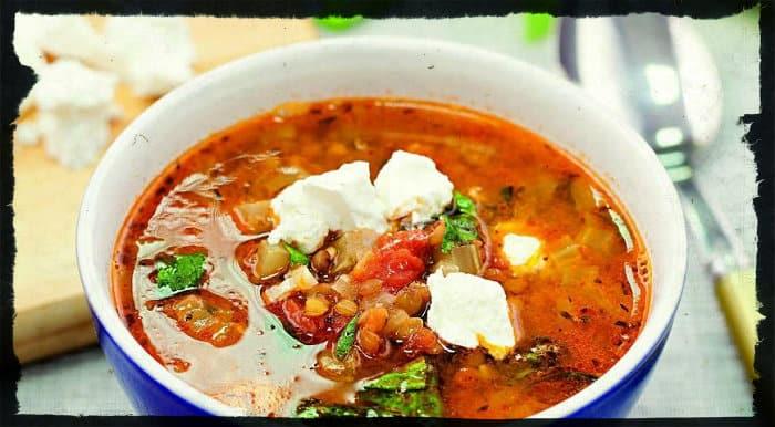 Греческий суп с томатами