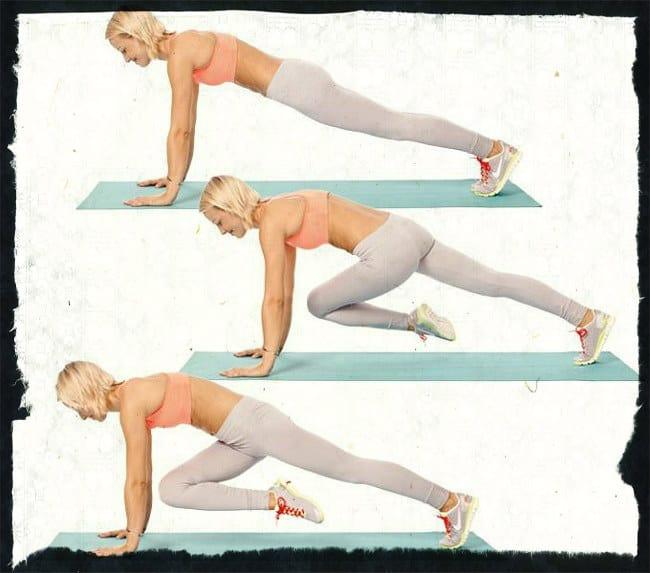 Упражнение скалолаз с поворотом корпуса