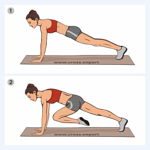 упражнение скалолаз - техника