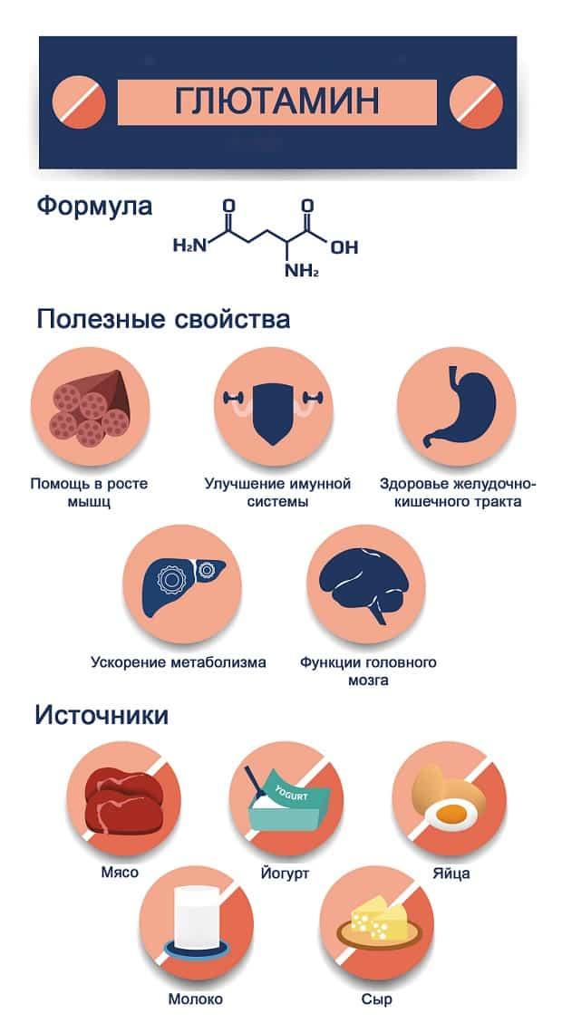 Источники и свойства глютамина