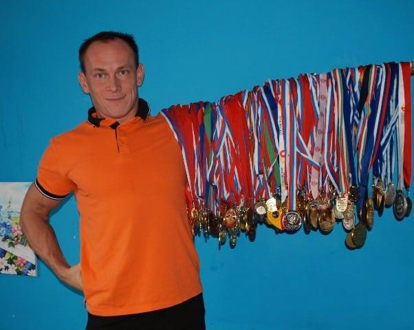 Андрей Ганин с медалями