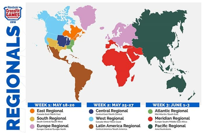 Карта регионов 2018