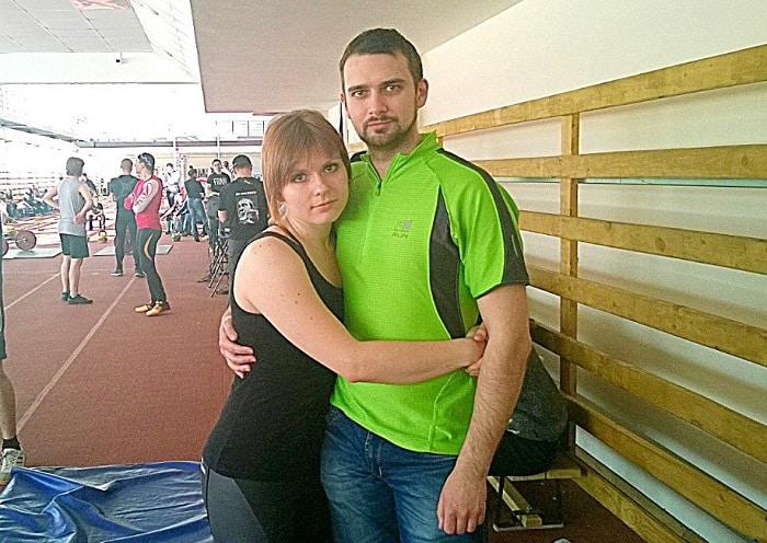 Лариса Зайцевская с мужем