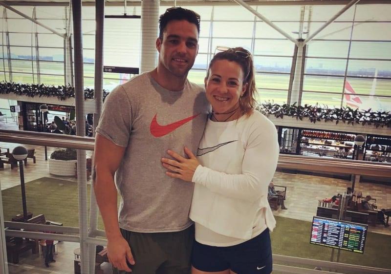 Кара Вебб с мужем