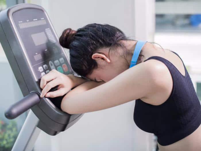 Плоло после кардио-тренировки