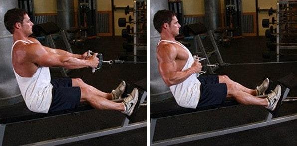 Тяга горизонтального блока к поясу как изолирующее упражнение для спины
