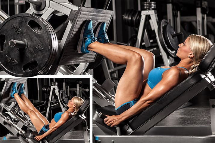 Жим ногами отлично прорабатывает мышцы