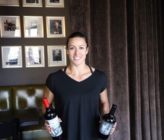 Марго с вином своего производства