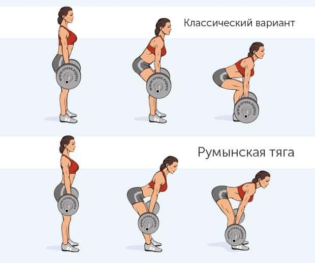 Классическая и румынская тяги