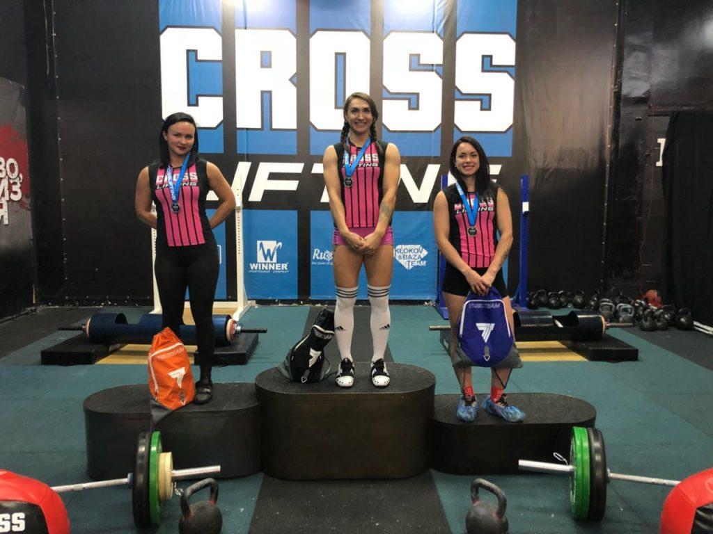 Женщины призёры в категории 70kg-cup-central-region-of-crosslifting-2018